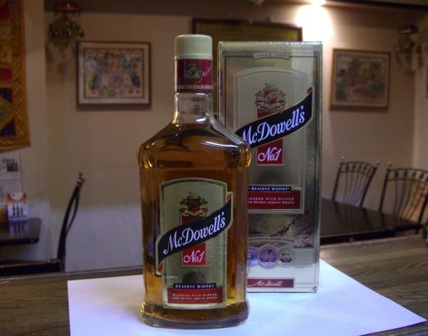 インドウイスキー マクダウエル NO.1